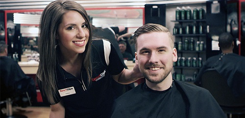 Sport Clips Haircuts of Midvale​ stylist hair cut